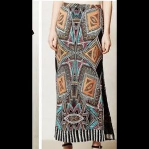 Anthropologie Maeve Moorea Maxi Skirt Tribal